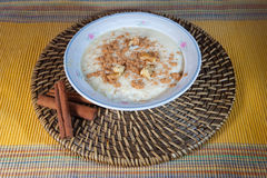Rice with milk and cinnamon Royalty Free Stock Images