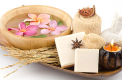 Rice milk soap. Royalty Free Stock Images