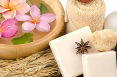 Rice milk soap. Stock Images