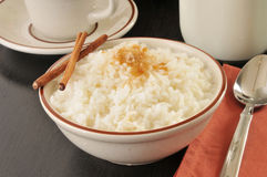 Rice with milk and sugar Stock Photo