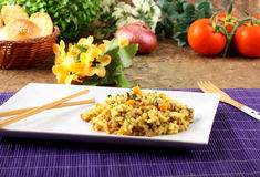Rice with minced meat and carrots Royalty Free Stock Photos