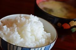 Rice and miso soup Stock Photography