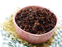 Rice mix purple rice berry rice Stock Images