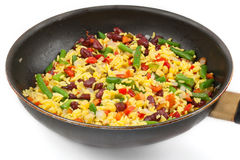 Rice with mix vegetables Royalty Free Stock Images