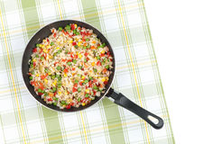 Rice with mix vegetables Royalty Free Stock Photo