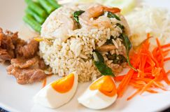 Rice Mixed with Shrimp paste Royalty Free Stock Images