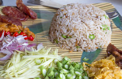 Rice Mixed with Shrimp paste Royalty Free Stock Photography