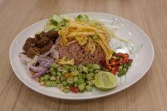 Rice Mixed with Shrimp paste, Thai style Royalty Free Stock Photos