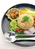 Rice mixed with shrimp paste Stock Photography