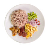 Rice Mixed with Shrimp paste Royalty Free Stock Photos