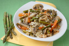 Rice with mixed vegetables Royalty Free Stock Photos