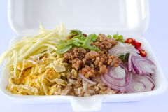 Rice mixes. Who is local food that a Thai has liked to eat is locality food that ? eats must like Stock Image