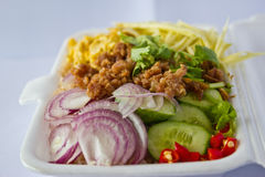 Rice mixes. Who is local food that a Thai has liked to eat is locality food that ? eats must like Royalty Free Stock Image
