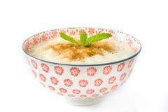 Rice mousse. Isolated photo Stock Image