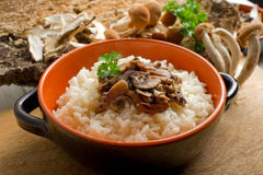 Rice with mushroom Royalty Free Stock Image