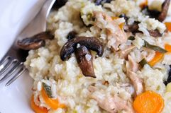 Rice with mushrooms Royalty Free Stock Photography