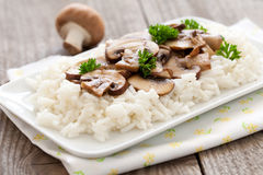 Rice with mushrooms Royalty Free Stock Image