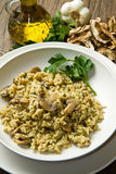 Rice with mushrooms Royalty Free Stock Images