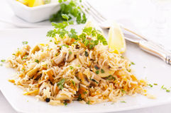 Rice with mushrooms Stock Photography