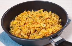 Rice with mushrooms Royalty Free Stock Photos