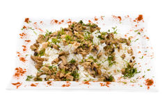 Rice with mushrooms Royalty Free Stock Photo
