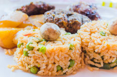 Rice with mushrooms Stock Image