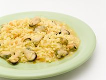 Rice with mussels Stock Photography