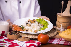 Rice with mussels Royalty Free Stock Photography