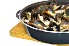 Rice with mussels Royalty Free Stock Photos