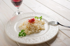 Rice with natural saffron pistil Royalty Free Stock Images