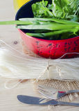Rice noodle Stock Images