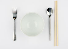 Rice and Noodle Bowl Royalty Free Stock Images