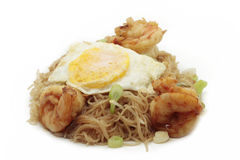Rice noodle egg shrimp Stock Images