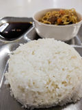 Rice and noodle meal Stock Images