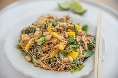 Rice Noodle Salad with mango Stock Photography