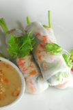 Rice noodle skin spring roll Royalty Free Stock Image