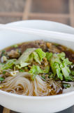 Rice noodle soup Stock Photography