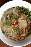 Rice noodle soup with stewed chicken and chinese herbs Stock Images