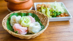 Rice noodle thai food Stock Photography