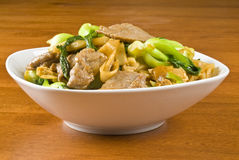 Rice Noodles and Beef Stir Fry Royalty Free Stock Image