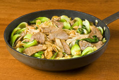 Rice Noodles and Beef Stir Fry Royalty Free Stock Images