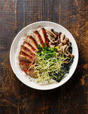 Rice noodles bowl with Duck Stock Images