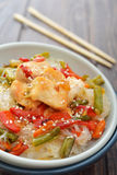 Rice noodles with chicken Royalty Free Stock Photography