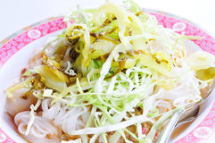 Rice Noodles coconut milk curry Royalty Free Stock Photos