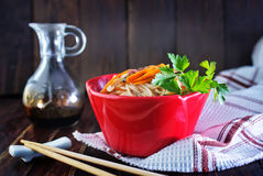Rice noodles with meat Royalty Free Stock Image