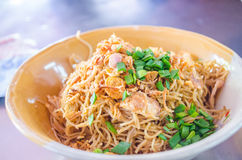 Rice noodles with pork bone stock Royalty Free Stock Photos