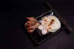 Rice noodles with porks and meet balls Royalty Free Stock Image