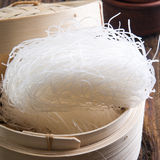 Rice Noodles. Raw Rice Noodles close up royalty free stock photos