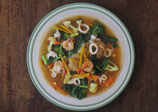 Rice noodles seafood Stock Photo