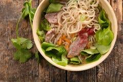 Rice noodles soup Stock Photo